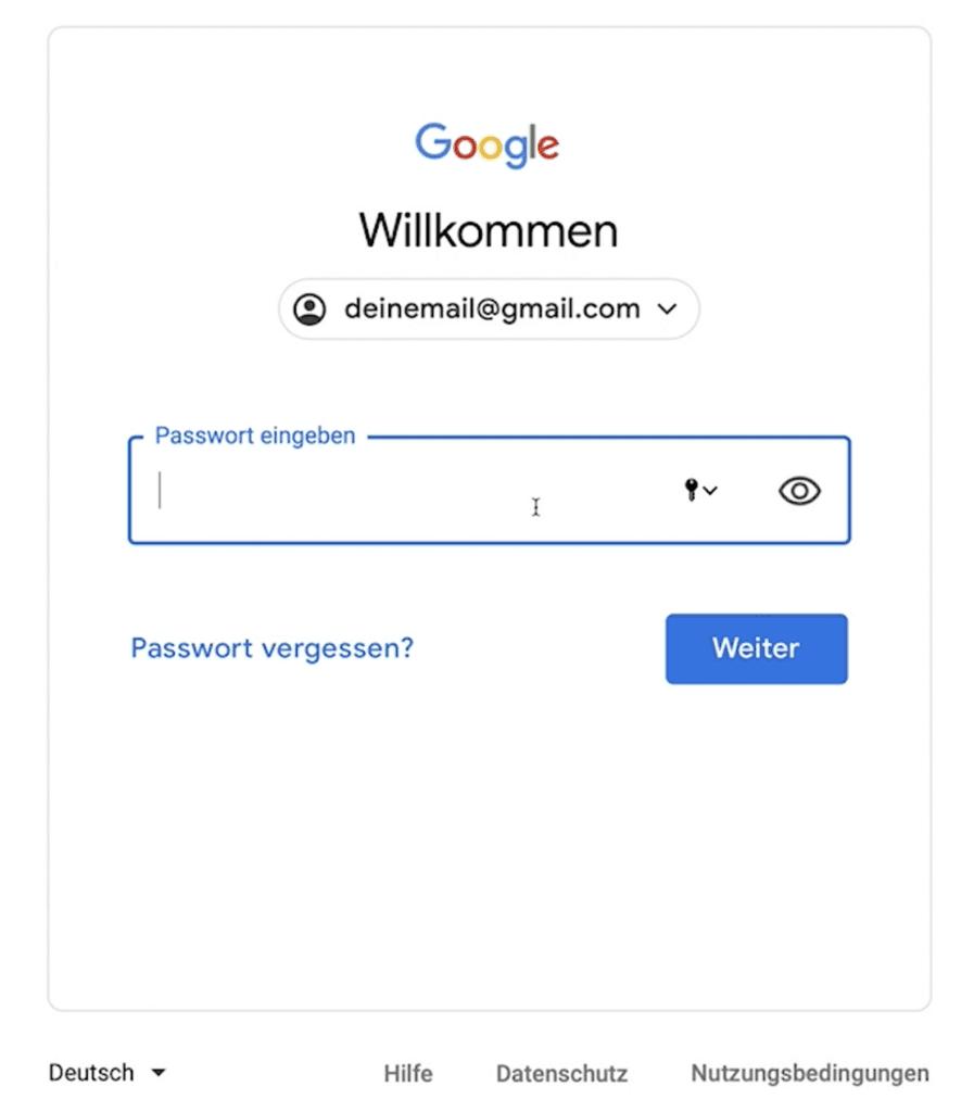 Google Konto schützen durch private E-Mail-Adresse