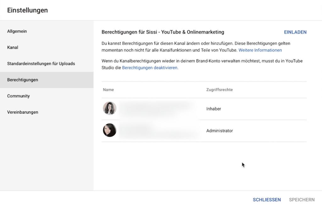 YouTube Kanal schützen durch Prüfung der Berechtigungen