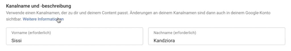 YouTube Name ändern ohne echten Namen.