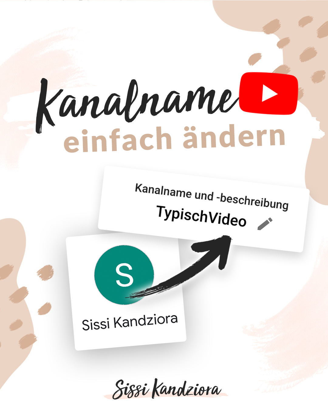 YouTube Kanal Name ändern