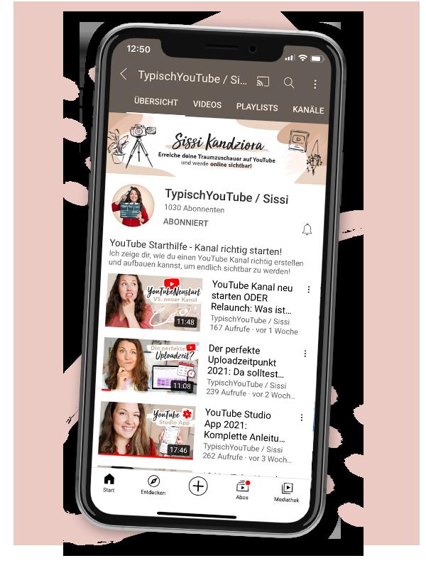 Sissi Kandziora YouTube Kanal mit YouTube Tipps